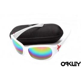 Oakley script matte white and colorful iridium