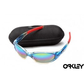 Oakley straight jacket sunglass crystal blue and colorful iridium