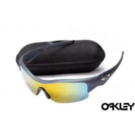 Oakley straight jacket sunglass matte black and fire iridium
