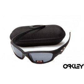 Oakley straight jacket sunglass matte black and grey
