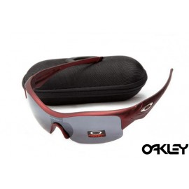 Oakley straight jacket sunglass team cardinal and dim grey
