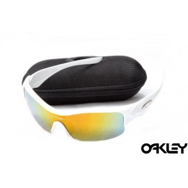 Oakley straight jacket sunglass polished white and fire iridium