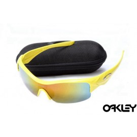 Oakley straight jacket sunglass polished lemon peel  and fire iridium