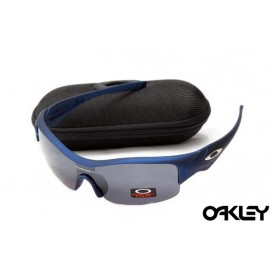 Oakley straight jacket sunglass matte blue and black iridium