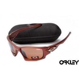 Oakley ten sunglasses in matte brown and VR28 iridium