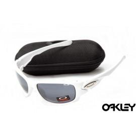 Oakley ten sunglasses in white and dim grey iridium