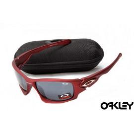 Oakley ten sunglasses in matte red and black iridium