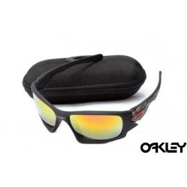 Oakley ten sunglasses in matte black and fire iridium
