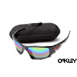 Oakley ten sunglasses in polished black and ice iridium