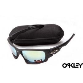 Oakley ten sunglasses in matte black and ice iridium