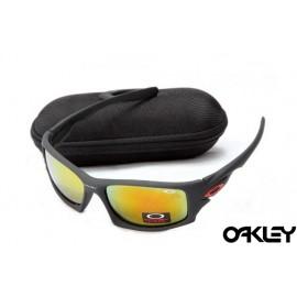Oakley ten sunglasses in matte black and fire iridium for sale