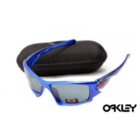 Oakley ten sunglasses in polished  brilliant blue and smoke grey
