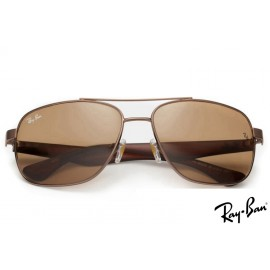 Ray Ban RB2483 Aviator Brown Sunglasses