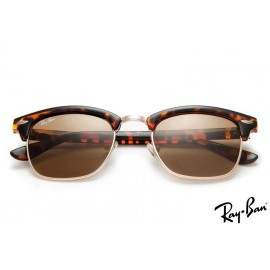 Ray Ban RB3016 Clubmaster Classic Tortoise Sunglasses