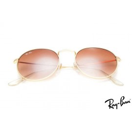Ray Ban RB3089 Round Metal Gold Sunglasses