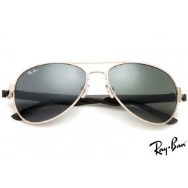 Ray Ban RB3806 Aviator Gold Sunglasses