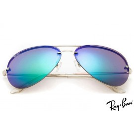 Ray Ban RB3806 Aviator Sunglasses Silver