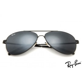 Ray Ban RB3811 Aviator Black Sunglasses