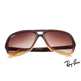 Ray Ban RB4162 Cats 5000 Brown Sunglasses