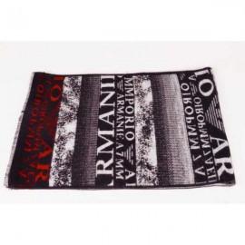 Armani wool scarf black / red logo