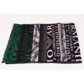 Armani wool scarf black / green logo