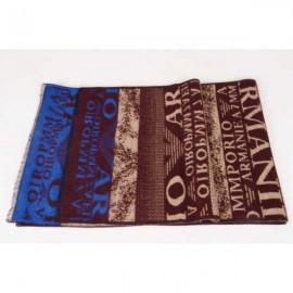 Armani wool scarf brown color / blue logo