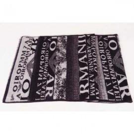 Armani wool black scarf sale