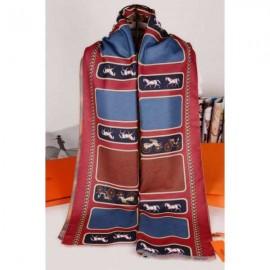 Hermes cashmere scarf dark red