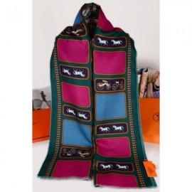Hermes cashmere scarf dark green