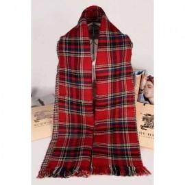 Burberry cotton cashmere scarf classic grid