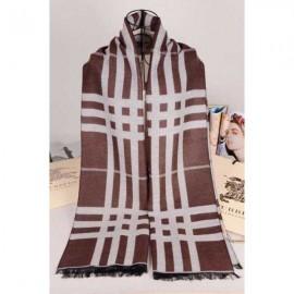 Burberry wool scarves brown