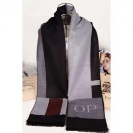 Burberry cashmere op scarf grey / black