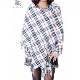 Burberry check merino wool cashmere wrap on sale