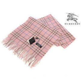 Burberry check cashmere pink scarf sale