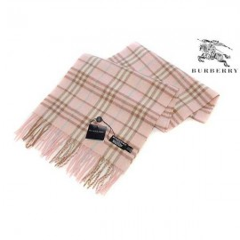 Burberry check cashmere light pink scarf