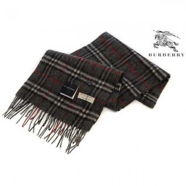 Burberry cashmere scarf charcoal check