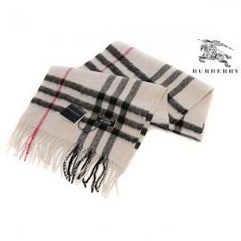 Burberry cashmere scarf beige check
