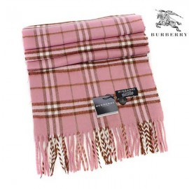 Burberry wool cashmere scarf pink