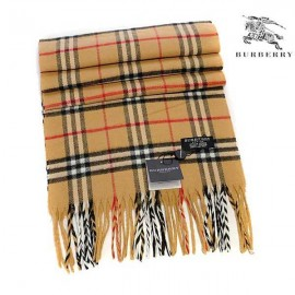 Burberry wool cashmere scarf camel