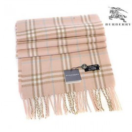 Burberry wool cashmere scarf english rose check