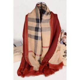 Burberry cotton silk big camel scarf