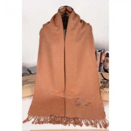 Burberry embroidered cashmere stole camel