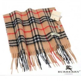 Burberry camel check cashmere heritage scarf