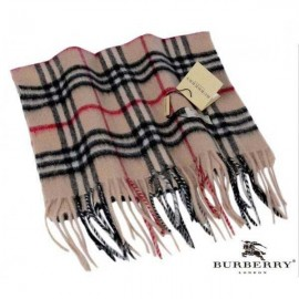 Burberry smoked check trench cashmere scarf