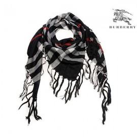 Burberry wool scarf black check