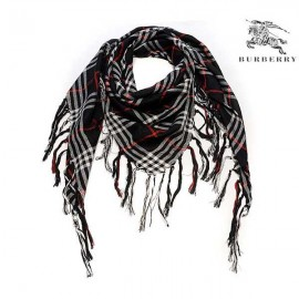 Burberry wool scarf black check for sale