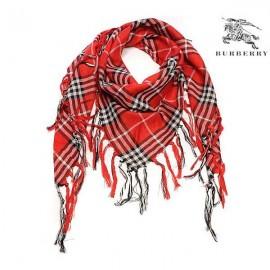 Burberry wool scarf carmine sale