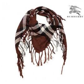 Burberry wool scarf brown sale