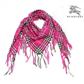 Burberry wool scarf pink check