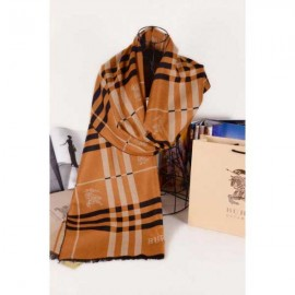 Burberry wool silk scarf brown with Burberry logo sale
